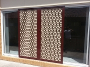 Decorative-Diamond-grille-with-Privacy-Mesh